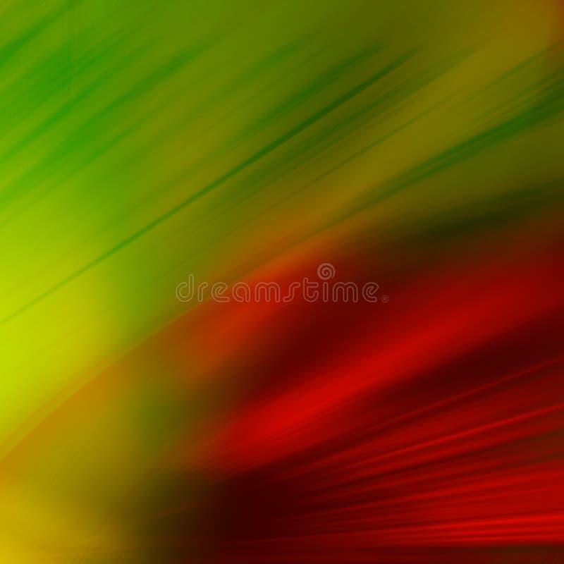 Grün und Rot stock abbildung