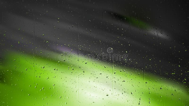 Grün und Schwarzwasser-Tröpfchen-Hintergrund lizenzfreie abbildung