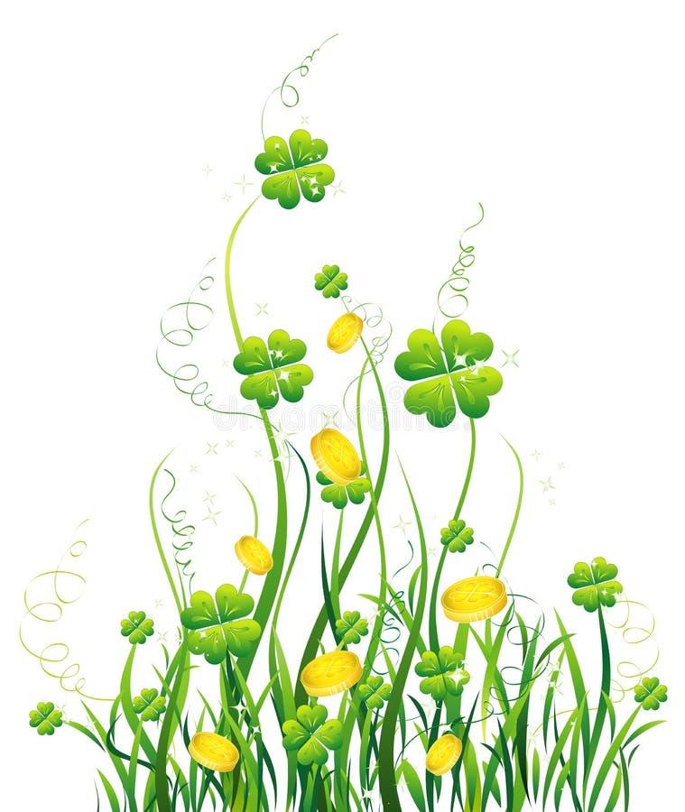 Blaues Blumen- Und Rebemuster Stock Abbildung ...