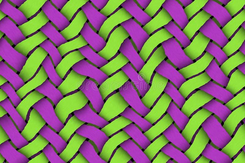 Grün - violetter Twill-Hintergrund lizenzfreies stockbild