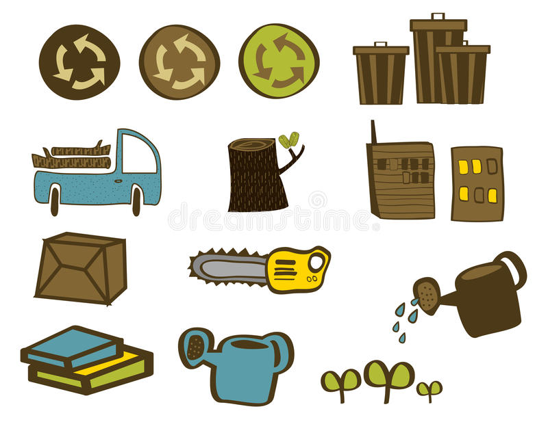 Grün-wieder Gegenstände stockbild