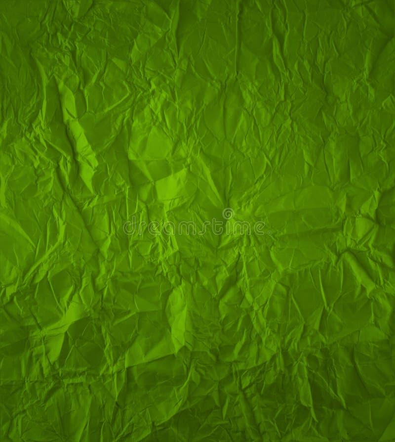 Grün zerknittertes Papier stock abbildung