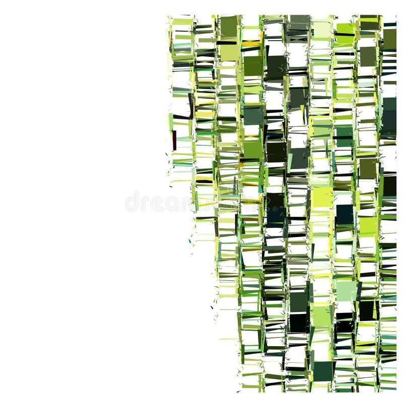 Grün zersplittertes abstraktes Muster über Weiß lizenzfreie abbildung