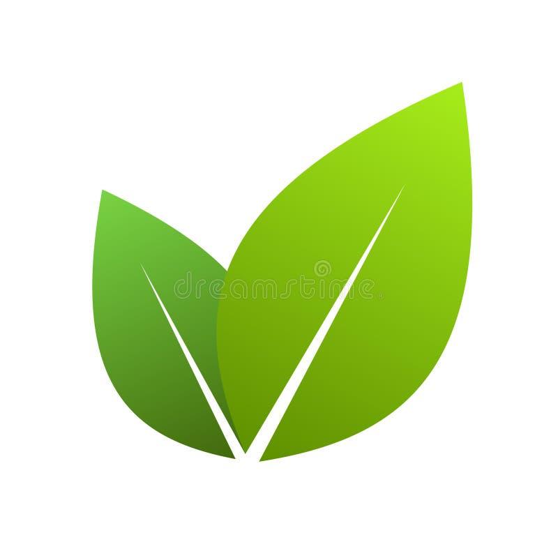 Grünblätter stock abbildung