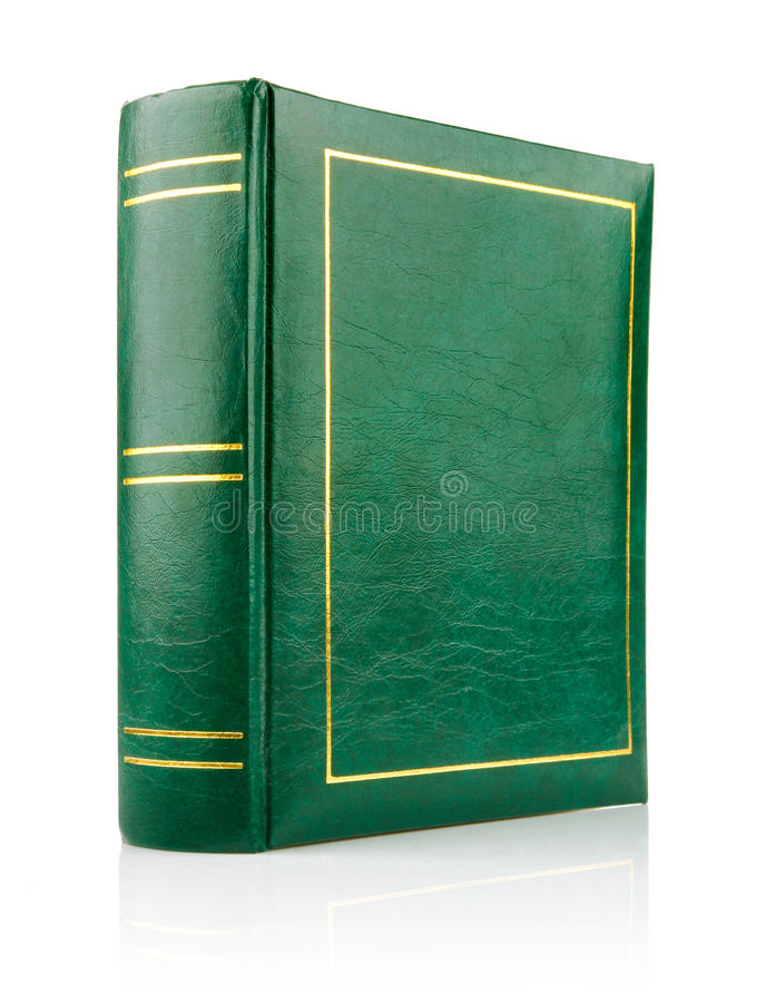 Grünbuch in der ledernen Schwergängigkeit stockbilder
