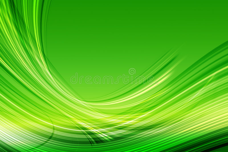 Grüne abstrakte Kurven lizenzfreie abbildung