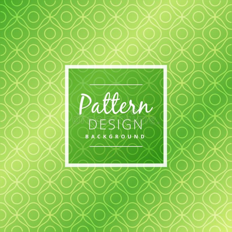 Grüne abstrakte Musterhintergrundvektor-Designillustration vektor abbildung