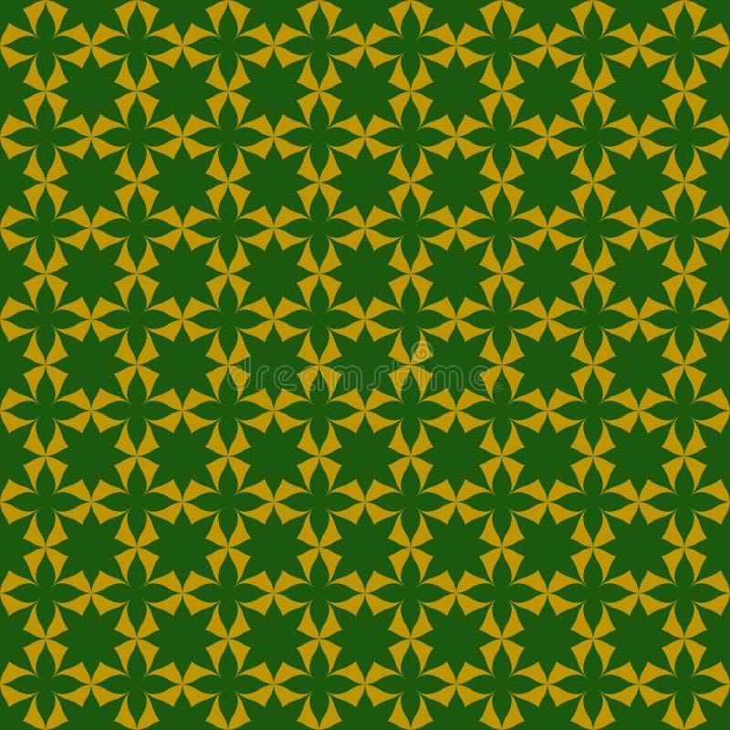 Grüne abstrakte Vektortapeten-Musterblätter stock abbildung