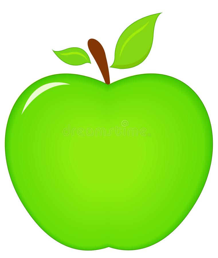 Grüne Apfelikone vektor abbildung
