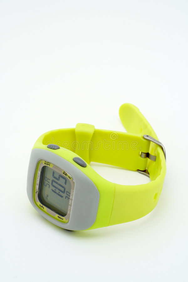 Grüne Armbanduhr lizenzfreies stockbild