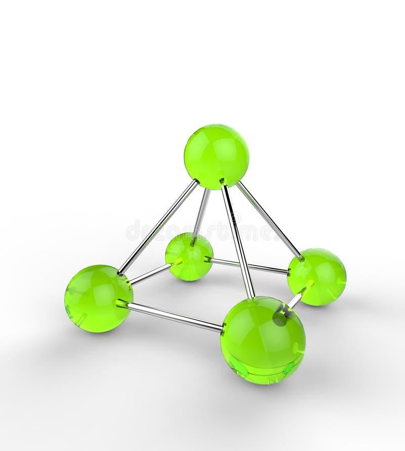 Grüne Atome lizenzfreie abbildung