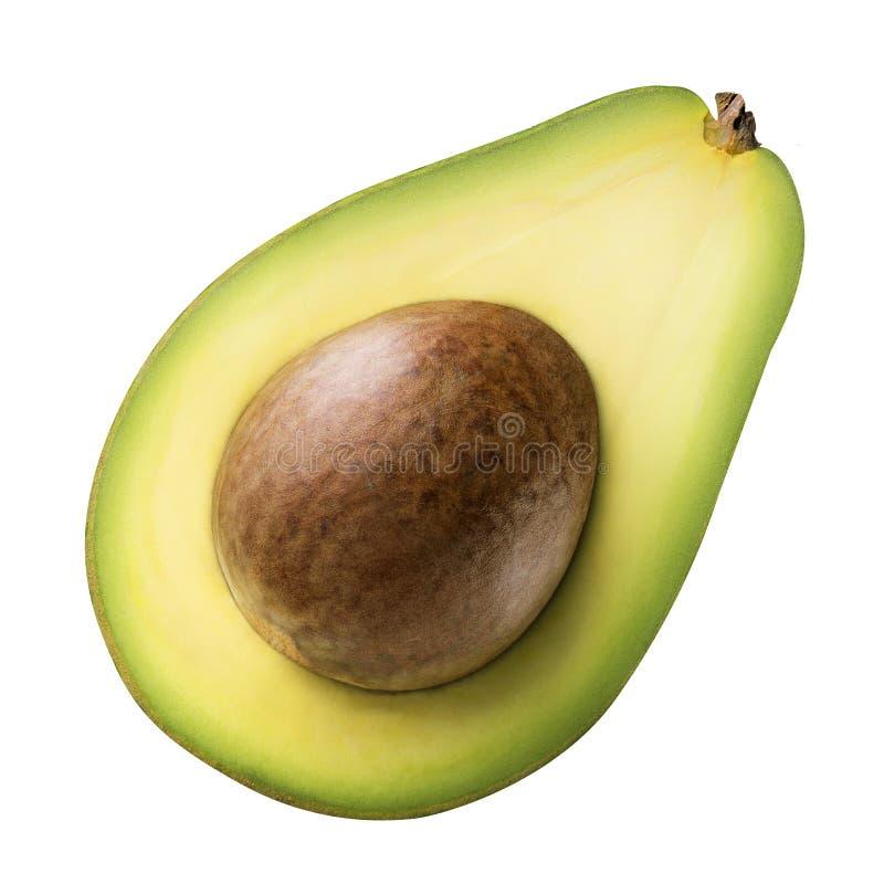 Grüne Avocado getrennt auf weißem Hintergrund lizenzfreie stockfotografie
