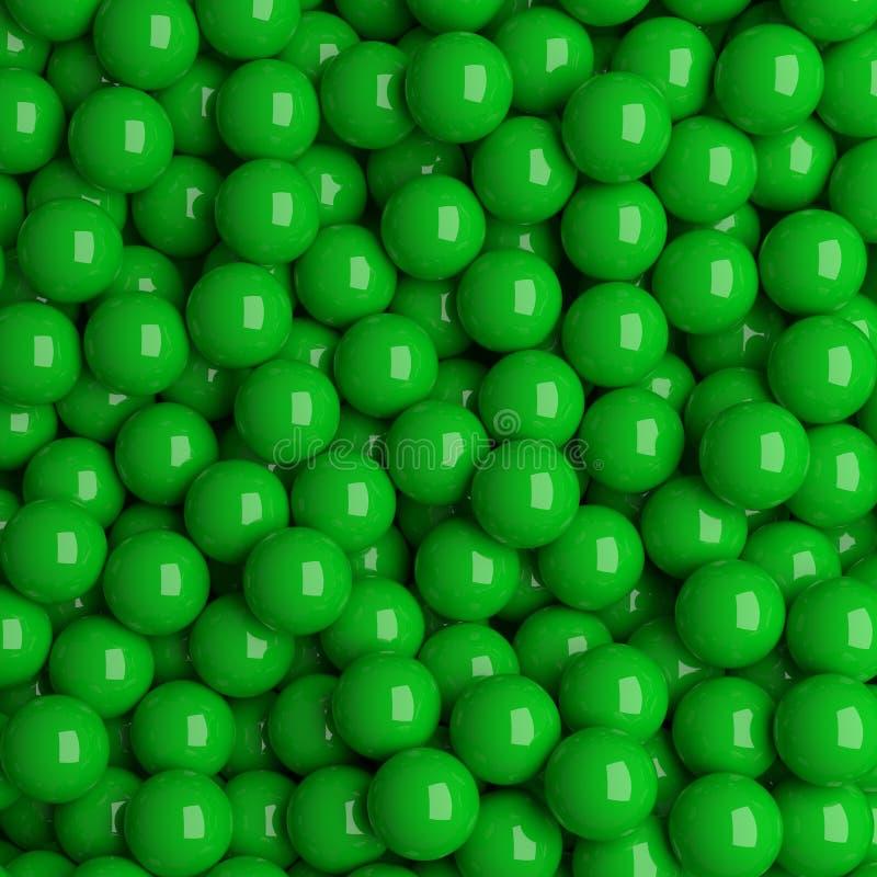Grüne Bälle vektor abbildung