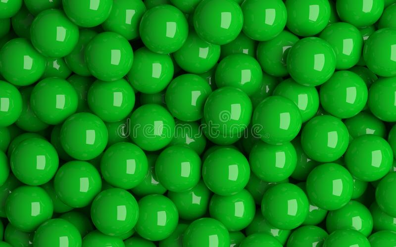 Grüne Bälle lizenzfreie abbildung
