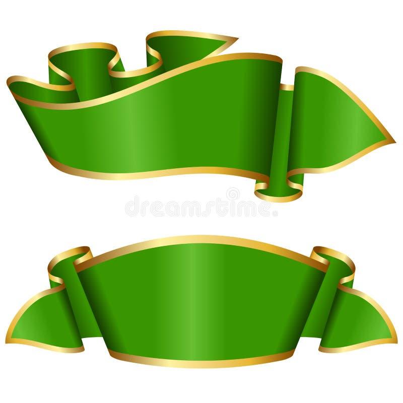 Grüne Bandansammlung lizenzfreie abbildung