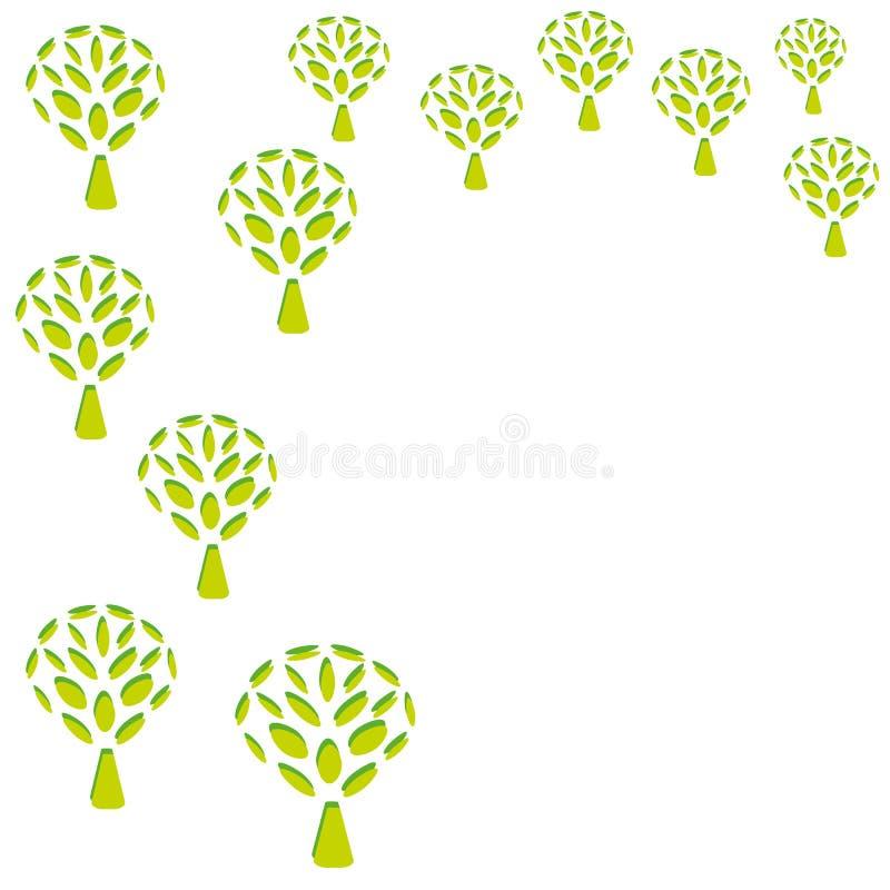 Grüne Baumhintergrundmuster vektor abbildung