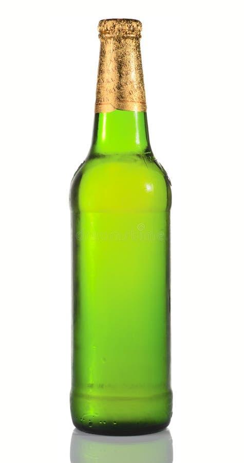 Grüne Bierflasche lizenzfreie stockfotografie