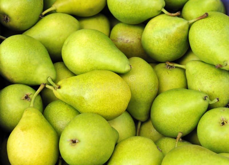 Grüne Birnen lizenzfreie stockfotos