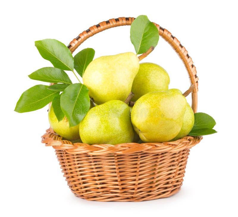 Grüne Birnen stockfotografie