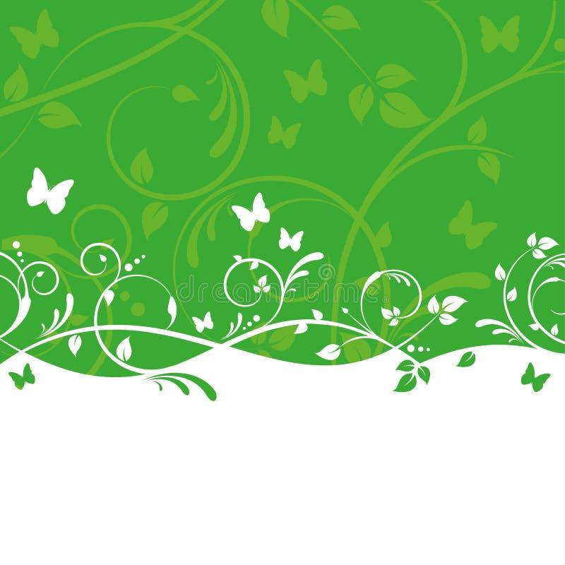 Grüne Blumenauslegung lizenzfreie abbildung