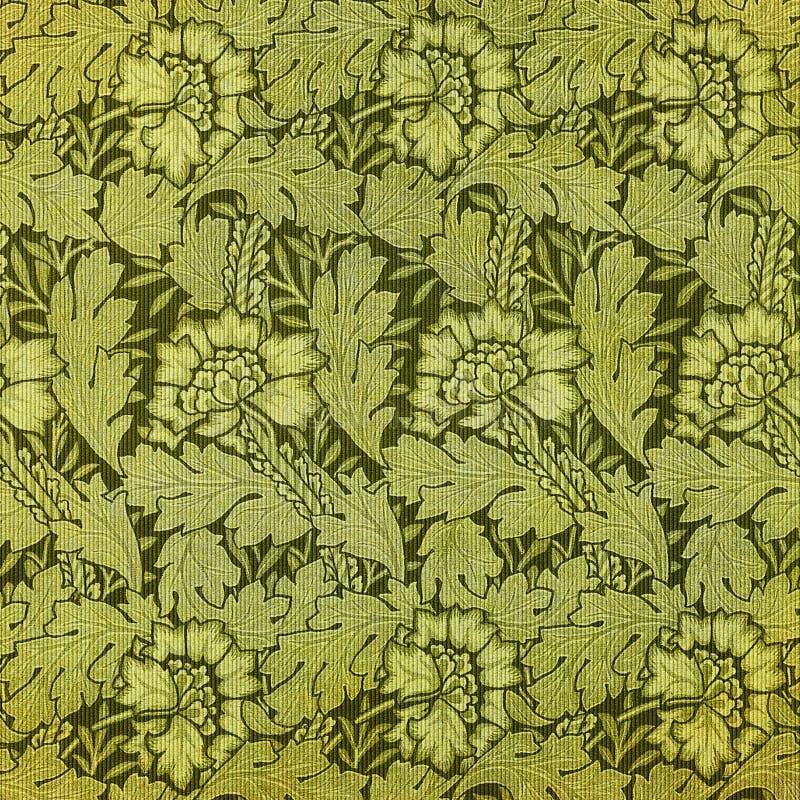 Grüne Blumentapisserie lizenzfreie abbildung