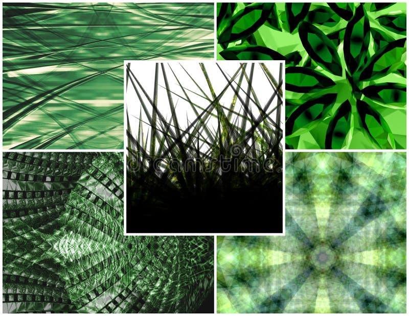 Grüne Collage lizenzfreie abbildung