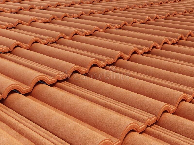 Grüne Dachplatte stock abbildung