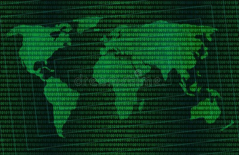 Grüne digitale Welt lizenzfreie abbildung