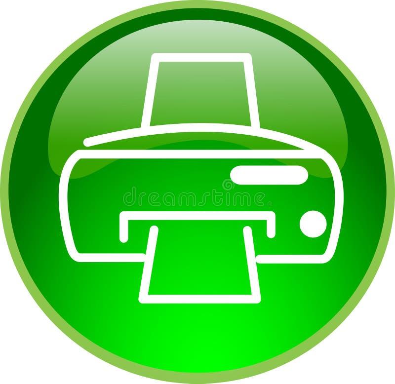 Grüne Drucktaste lizenzfreie abbildung