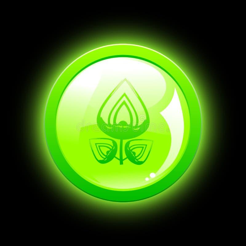 Grüne eco Taste vektor abbildung