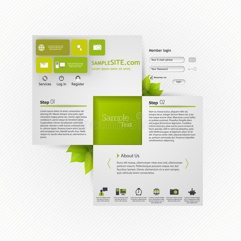 Grüne eco Website vektor abbildung