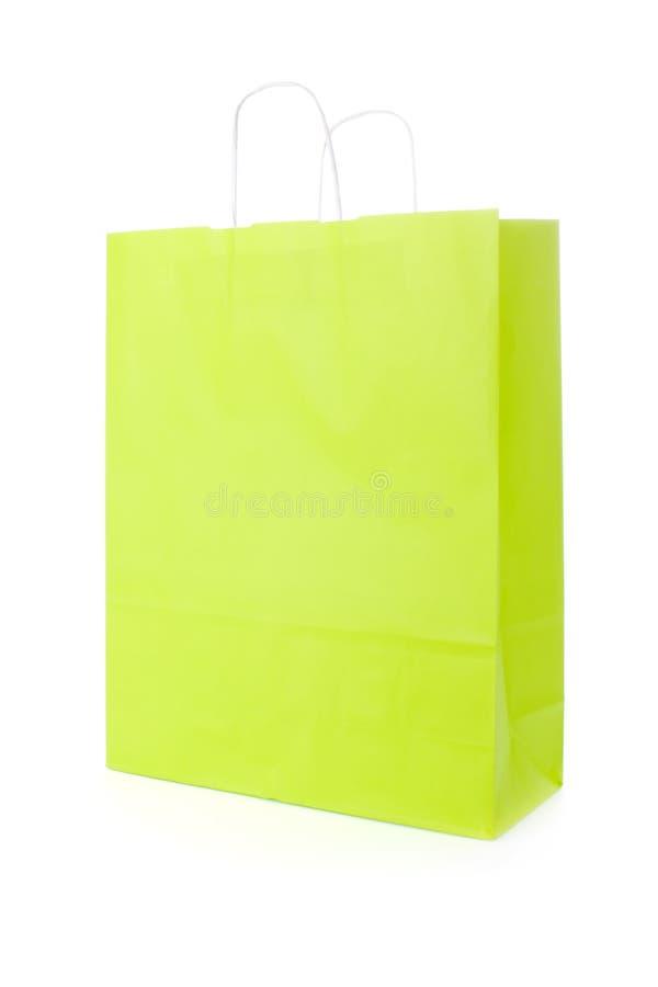 Grüne Einkaufstasche lizenzfreies stockbild