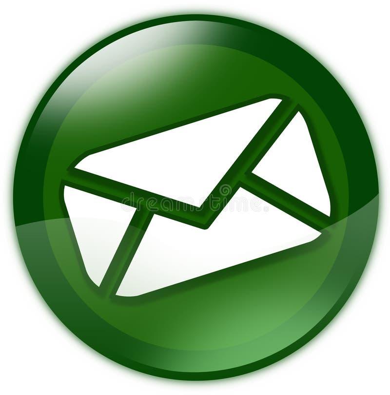 Grüne eMail-Taste lizenzfreie abbildung