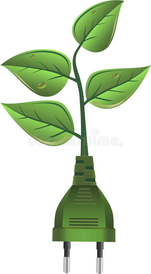 Grüne Energie lizenzfreie abbildung