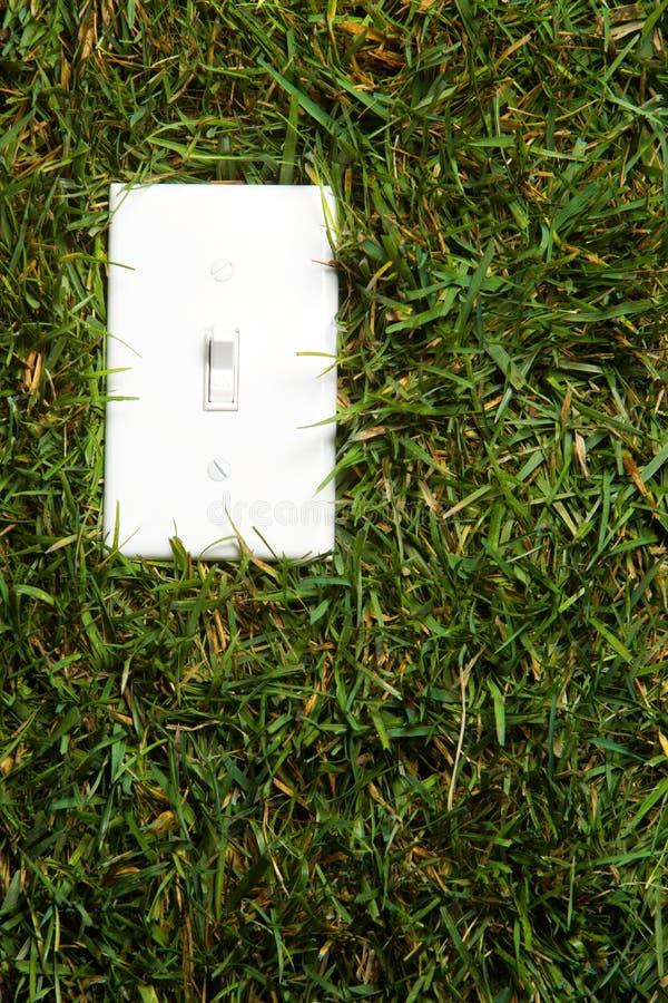 Grüne Energie eingeschalten stockfotografie