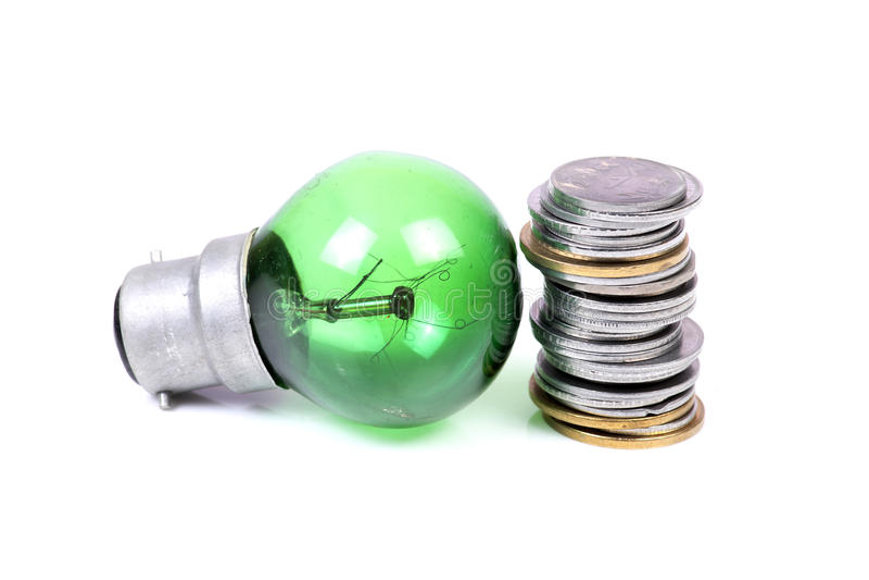 Grüne Energie und Einsparungen lizenzfreie stockbilder
