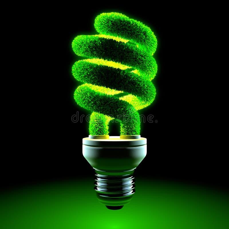 Grüne energiesparende Lampe lizenzfreie abbildung