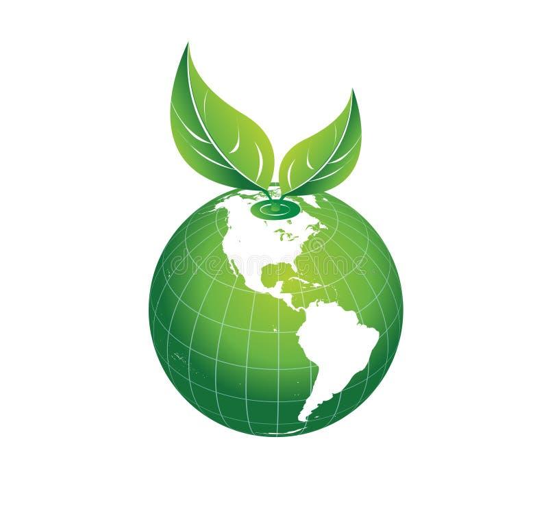 Grüne Erde und die Umwelt, Mutter Natur, eco Ikonenvektor stock abbildung