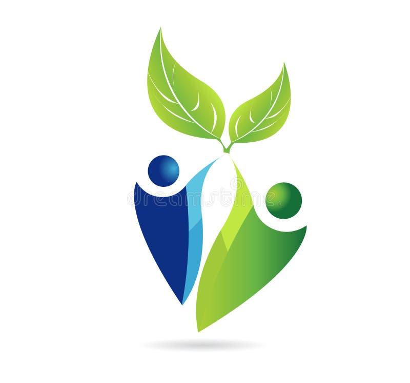 Grüne Erde und die Umwelt, Mutter Natur, eco Ikonenvektor vektor abbildung