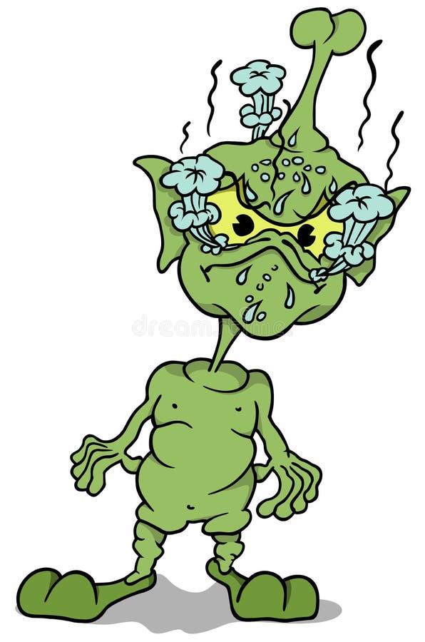 Grüne Extraterrestrial-Stellung vektor abbildung