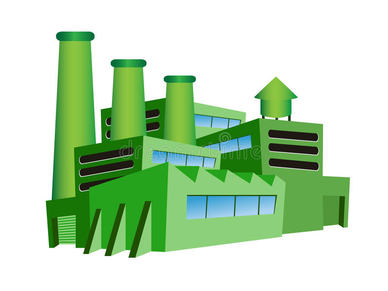 Grüne Fabrik stock abbildung