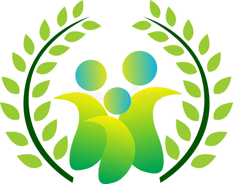 Grüne Familie lizenzfreie abbildung