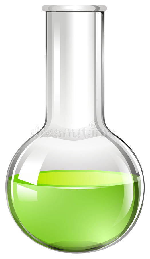 Grüne Flüssigkeit im Glasbecher lizenzfreie abbildung