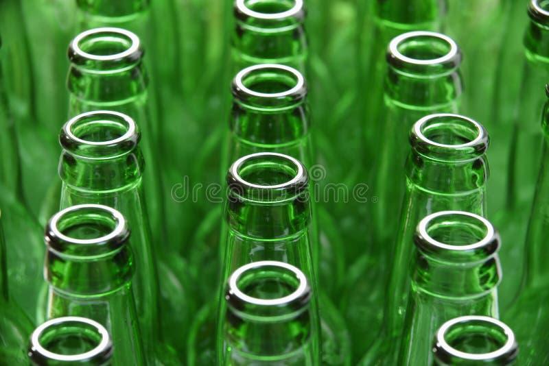 Grüne Flaschen stockbilder