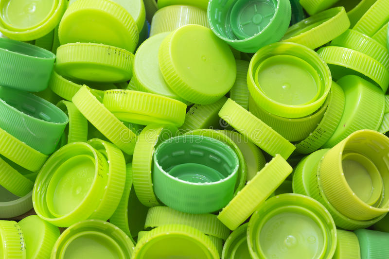 Grüne Flaschenkapsel lizenzfreie stockbilder