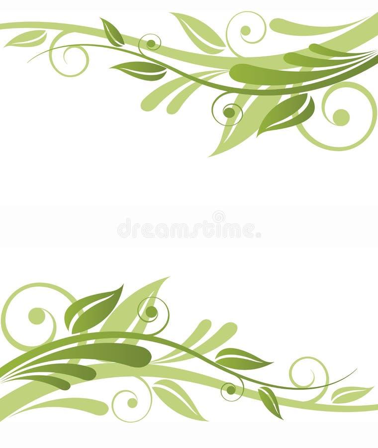Grüne Flora-Auslegung lizenzfreie abbildung