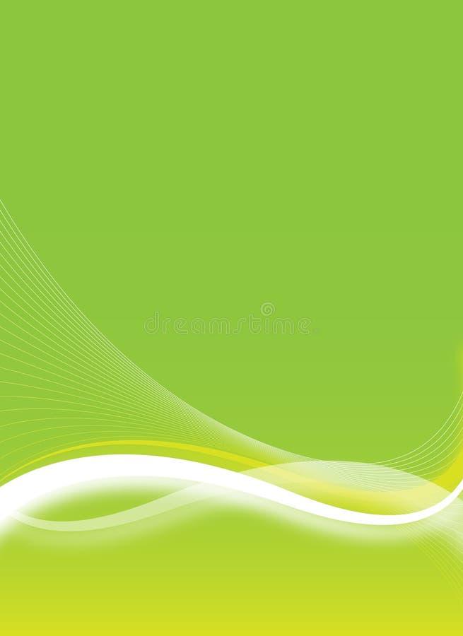 Grüne Flugblattauslegung lizenzfreie abbildung