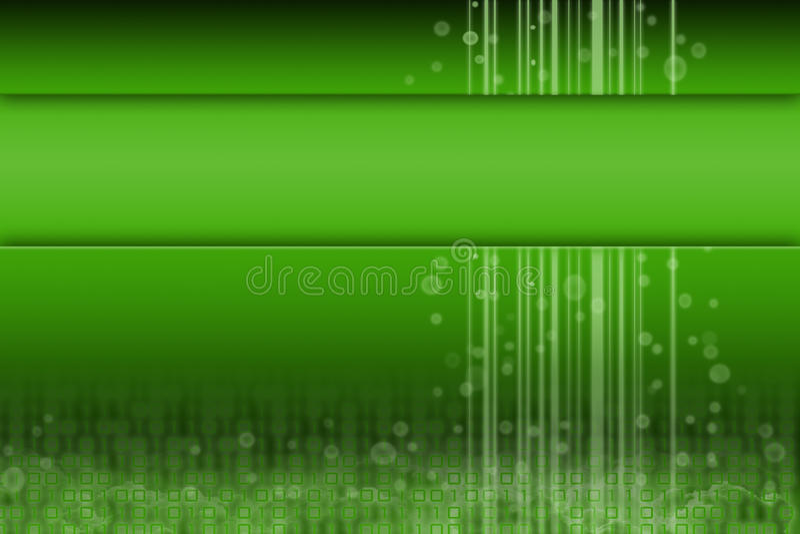 Grüne futuristische Auslegung mit Raum für Inhalt stock abbildung