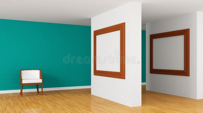 Grüne Galerie stock abbildung
