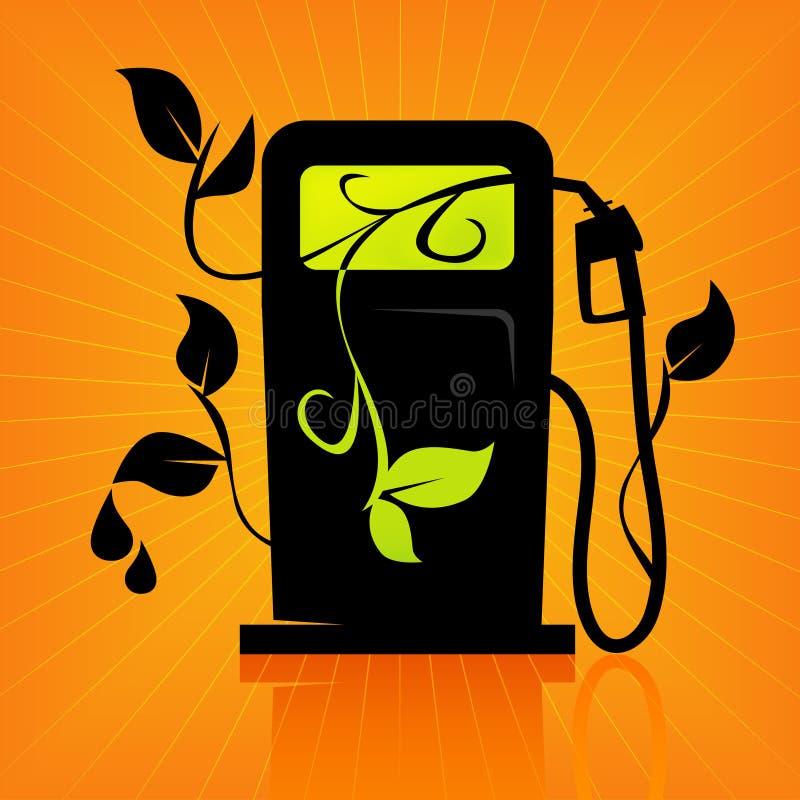 Grüne Gas-Pumpen-Ikone stock abbildung